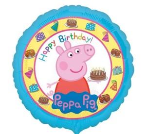 """Balony foliowe z bohaterami bajek - Balon foliowy 18"""" CIR - """"Peppa Pig Happy Birthday"""""""