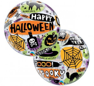 "Balony foliowe kształty z napisami - Balon na Halloween Bubble "" Happy Halloween"" / 43433"