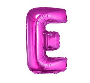"Balon foliowy ""Litera E"", różowa, 35cm"