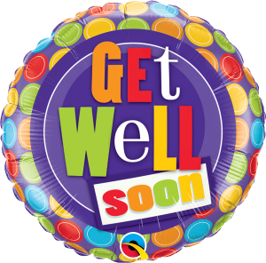 Balon foliowy 18'' ''Get Well Dot''