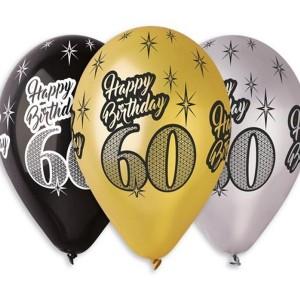 Balony lateksowe na 60 urodziny