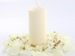 Świeczki walce - Ecru świeca walec, matowa / 12x6 cm