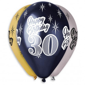 Balony lateksowe na 30 urodziny