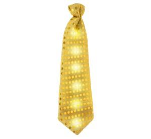 Krawaty - Złoty rawat świecący, cekiny