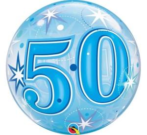 """Balony foliowe na okrągłe urodziny - Balon foliowy Bubble """"Liczba 50"""", 55 cm / 48447"""