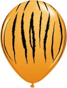 """Balony lateksowe z nadrukiem - Balony lateksowe QL 11"""" Tygrys- paski"""""""