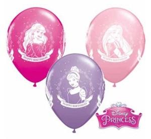 """Balony lateksowe z nadrukiem - Balon urodzinowe """"Disney Princess Happy Birthday""""/ 25szt PRZECENA"""