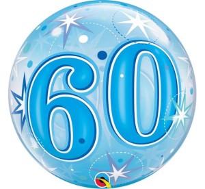 """Balony foliowe na okrągłe urodziny - Balon foliowy Bubble """"Liczba 60"""", 55 cm / 48449"""