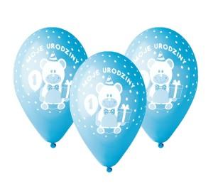 """Balony lateksowe cyfry i liczby - Balony urodzinowe na Roczek dla chłopca """"Moje 1 Urodziny"""" / GD-M1UC1"""