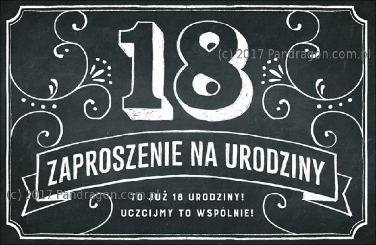 Zaproszenia Na 18 Urodziny Vintage Proarti