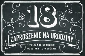 Zaproszenia na 18 urodziny - Zaproszenia na 18 urodziny w stylu Vintage / Z.C6-561