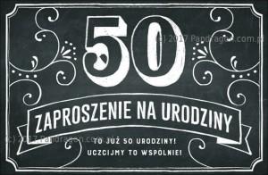 Zaproszenia na 50 urodziny Vintage