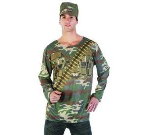 """Strój dla dorosłych """"Żołnierz"""" (bluzka, czapka) roz. 52"""