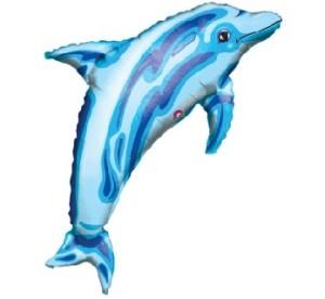 """Balony foliowe zwierzątka - Balon foliowy 24"""" """"Delfin"""" (niezapakowany)"""