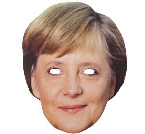 """Maski - Maska papierowa """"Angela Merkel"""""""