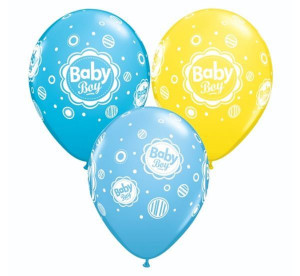 """Balony lateksowe z napisami - Balon QL 11"""" z nadrukiem """"Baby Boy"""""""