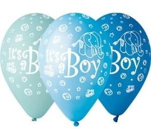 "Balony Premium ""It's a Boy"", 12"""