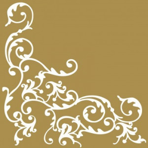 """Serwetki flizelinowe ze wzorem - Serwetki flizelinowe wzorzyste """"Pomp"""", biało-złote / 40x40"""