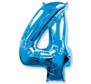"Balony foliowe cyfry 86 cm - Balon foliowy 34"" ""Cyfra 4"" / 305227"