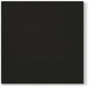 Serwetki Lunch 33x33 Unicolor Czarne