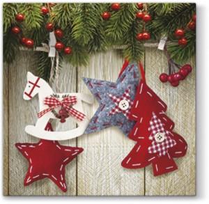 "Serwetki Lunch 33x33 ""Christmas & Stars"""