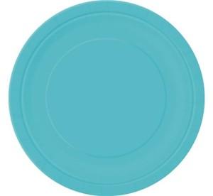 Talerzyki papierowe, morski niebieski, 23cm