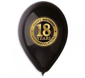 "Balon Premium "" 18 years"", czarne, 12"""