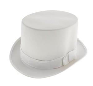Cylinder biały,gładki