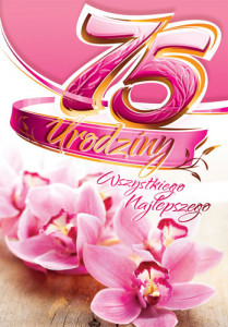 Kartki urodzinowe - Kartka 75 Urodziny CC08