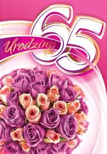 Kartki urodzinowe - Gratulacje 65 urodziny CC06