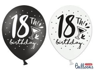"""Balony lateksowe cyfry i liczby - Balony na 18 urodziny """"18 birthday"""" / SB14P-246-000-6"""