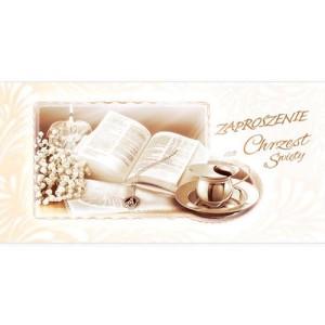 Zaproszenia na Chrzest Święty - Zaproszenia na Chrzest Święty / ZCH09
