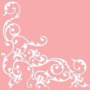 """Serwetki flizelinowe ze wzorem - Serwetki flizelinowe wzorzyste """"Pomp"""", biało-różowe / 40x40"""