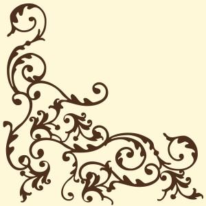 """Serwetki flizelinowe ze wzorem - Serwetki flizelinowe wzorzyste """"Pomp"""", kremowo-brązowe / 40x40"""