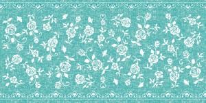 """Bieżniki flizelinowe wzorzyste - Bieżnik flizelinowy wzorzysty """"Lace"""", turkus / 40cmx24m"""
