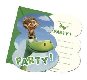 """Zaproszenia na urodziny - Zaproszenia z kopertą """"The Good Dinozaur"""""""