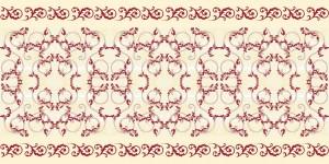 """Bieżniki flizelinowe wzorzyste - Bieżnik flizelinowy wzorzysty """"Michel"""", bordo-ecru / 40cmx24m"""