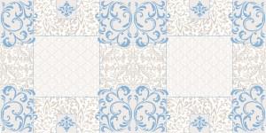 """Bieżniki flizelinowe wzorzyste - Bieżnik flizelinowy wzorzysty """"Sidney"""", niebieski / 40cmx24m"""