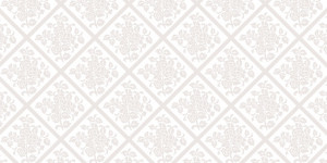 """Bieżniki flizelinowe wzorzyste - Bieżnik flizelinowy wzorzysty """"Damast"""", kość słoniowa / 40x2400 cm"""