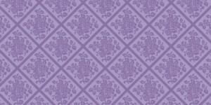 """Bieżniki flizelinowe wzorzyste - Bieżnik flizelinowy wzorzysty """"Damast"""", fiolet / 40cmx24m"""