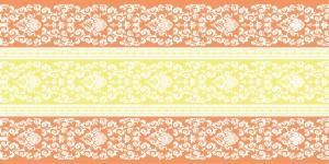 """Bieżniki flizelinowe wzorzyste - Bieżnik flizelinowy wzorzysty """"Pascal"""", pomarańczowy / 40cmx24m"""