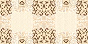 """Bieżniki flizelinowe wzorzyste - Bieżnik flizelinowy wzorzysty """"Sidney"""", brąz / 40cmx24m"""