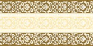 """Bieżniki flizelinowe wzorzyste - Bieżnik flizelinowy wzorzysty """"Pascal"""", brąz / 40cmx24m"""