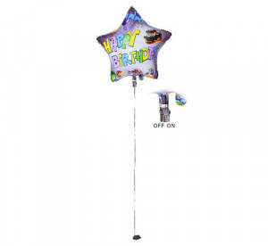 Balony LED - Balon foliowy świecący LED HAPPY BIRTHDAY