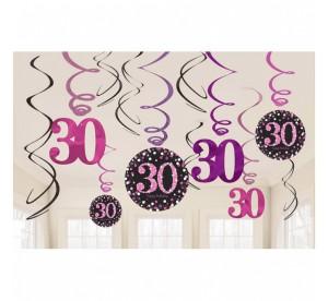 """Dekoracja wisząca """"30-Sparkling Celebration"""", różowa"""