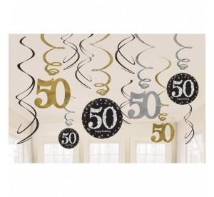 """Girlandy cyfry i liczby - Dekoracja wisząca """"50-Sparkling Celebration"""""""