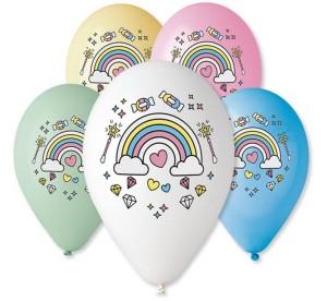"""Balony lateksowe z nadrukiem - Balony lateksowe Premium 12"""" Magiczna tęcza"""