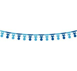 """Girlandy kształty - Girlanda papierowa""""Smoczki"""", 360x16x18 cm, niebieska"""