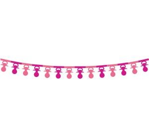 """Girlanda papierowa""""Smoczki"""", 360x16x18cm,rózowa"""