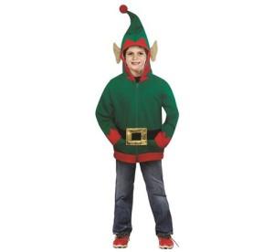 """Stroje dla chłopców - Strój dla dzieci """"Elf"""" (bluza z kapturem, pasek), rozm 8-10 lat"""